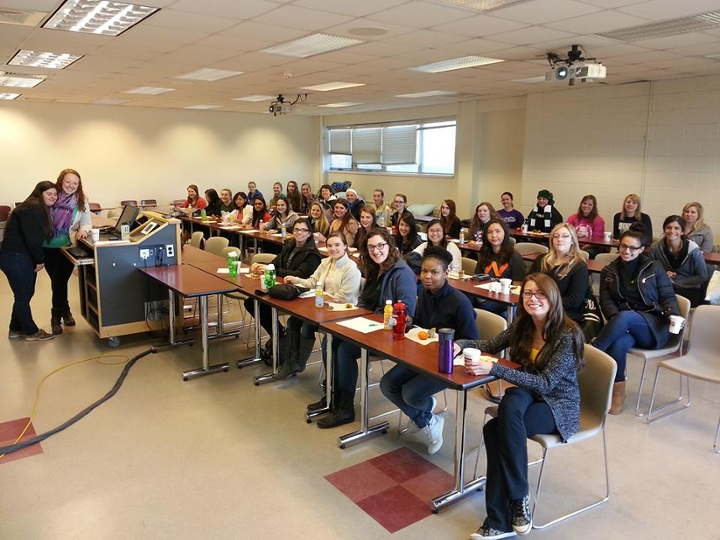 A recent ''Day With SWE'' event. Photo courtesy of MSU SWE