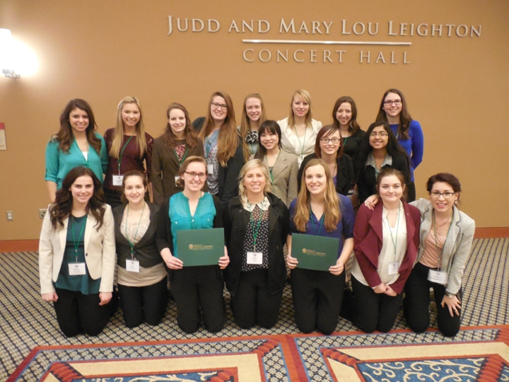 SWE members at their regional conference in South Bend, Indiana. Photo courtesy of MSU SWE