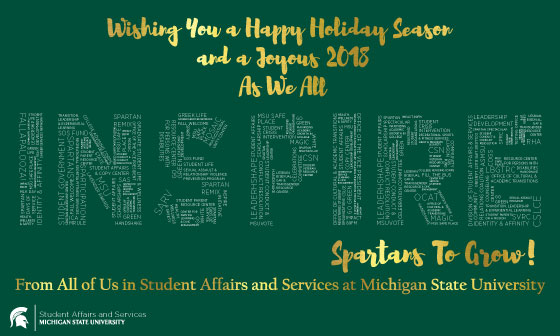 Happy Holidays from Student Affairs and Services!