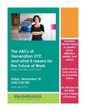 'The ABCs of Generation XYZ and What it Means for the Future of Work' presented Friday, November 18